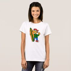 #Surfer dog asking for a ride T-Shirt - #dog #doggie #puppy #dog #dogs #pet #pets #cute #doggie #womenclothing #woman #women #fashion #dogfashion