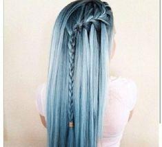 Pelo azul perla