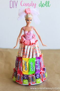 Best Diy Crafts Ideas Hi there! Sierra here and I'm back with a fun DIY for you today! I'm sharing how to make a candy doll! It's a unique and fun gift idea and it was a huge hit with my nieces for their birthdays (Auntie for the win! Barbie Birthday Party, Best Birthday Gifts, Diy Birthday, Friend Birthday, Birthday Quotes, Crafts For Teens To Make, Diy For Girls, Crafts For Kids, Easy Crafts