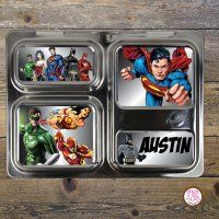 Personalized Custom Magnets for PlanetBox Launch - Superheroes #planetboxlaunch
