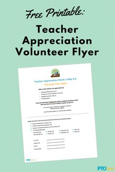 Are you getting the volunteers you'll need for Teacher Appreciation Week?