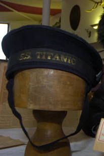 Titanic crew hat brought up from the Titanic Wreckage ~