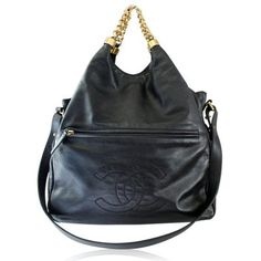 e9a6068f908c Buy Chanel for less than retail in Boca Raton. You will love this Chanel  Black Lambskin Chain Top slouch bag made in black lambskin!