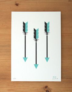 Three Arrows - Limited Edition Signed Giclee Print A5