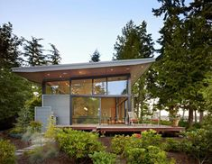 Port Ludlow House - Modern - Exterior - seattle - by FINNE Architects Minimalist House Design, Minimalist Home, Modern Exterior, Exterior Design, Ludlow House, Villa Architecture, Beautiful Architecture, Port Ludlow, Metal Siding