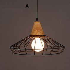 96.14$  Buy here - http://ali115.worldwells.pw/go.php?t=32662352790 - Nordic New Industrial Pendant Lamps American Country Wrought Iron Cage Light Fixtures Modern Kitchen Dining Room Lighting 220V