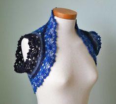 RAINBOW Crochet shrug pattern PDF by BernioliesDesigns on Etsy
