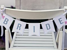 On your big day, you will surely have a special place to sit for the reception. Create these bride and groom banners with pretty ribbon to designate your seats. Download FREE bride banner and groom banner.