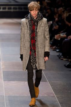 Saint Laurent Fall/Winter Men's Collection 2013  This is alittle out of my comfort zone but i would wear this:)