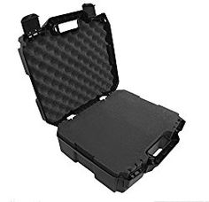DRONESAFE Rugged Mini Drone Carry Case Organizer With Customizable Foam - Protect DJI Mavic Pro Foldable Drone Combo and Accessories Such as Remote Control , Extra Batteries , Propellers and More
