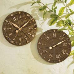 Ivy Outdoor Clock U0026 Thermometer   Grandin Road | Atrium | Pinterest | Clock,  Roads And 99