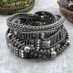 Instructions on this site for different bracelets and techniques | Color Study- Charcoal – Beadshop.com