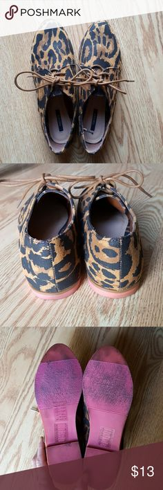 Leopard Loafers Only worn a couple of times. Good condition! Forever 21 Shoes Flats & Loafers