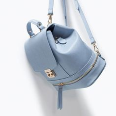 Lady like backpack from ZARA. Shop more products from ZARA on Wanelo. Sacs Design, Cute Backpacks, Leather Backpacks, Backpack Purse, Cute Bags, Coach Purses, Coach Bags, Beautiful Bags, School Bags
