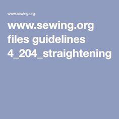 Straightening fabric grain