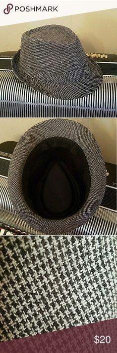 HOUNDSTOOTH BLACK & GREY FEDORA HAT HOUNDSTOOTH BLACK & GREY FEDORA HAT Simplicity Accessories Hats