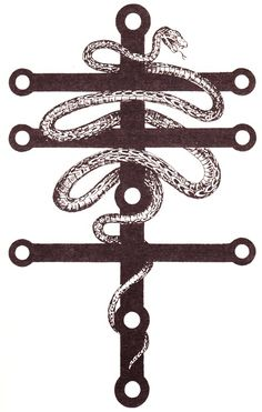 In the system of Thelema, Choronzon is the Dweller in the Abyss, that great spiritual wilderness which must be crossed by the adept to attain mastery. #serpent, #occult, #Ego, #Crowley