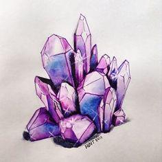 watercolor crystals - Recherche Google