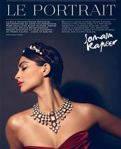 love the jewellery  (Sonam Kapoor shoots for new electric make up range by L'Oreal!)