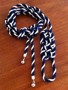 I really liked this DIY belt. I thought it was innovative to use new rope in colors of your choice to make a belt. The navy and white that this artist used gave the belt a nautical vibe, so the sailor's knot he or she used as a detail went well with the theme he or she gave the belt. I would love to try making something like this.