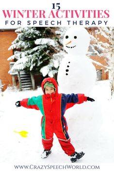 Do you need lesson plans for this season? This post has 15 winter themed speech therapy activities that you can use with your preschool and elementary students