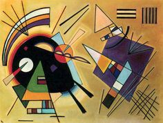 "Wassily Kandinsky - ""Black and Violet"", 1923"