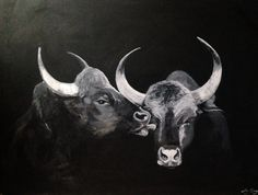 Bull Kiss - Oil on Canvas - Amy Coney #painting #art Painting Art, Oil On Canvas, Amy, Original Artwork, Moose Art, Kiss, Portrait, Drawings, Animals