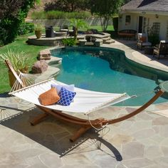 @Overstock - Christopher Knight Home Grand Cayman Hammock - This canvas hammock comes complete with a larch wood frame so it can be set up anywhere you choose. Larch wood is highly valued for its durable and waterproof attributes, making this hammock a quality addition to your outdoors.  http://www.overstock.com/Home-Garden/Christopher-Knight-Home-Grand-Cayman-Hammock/9214685/product.html?CID=214117 $289.99