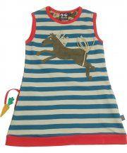 Ubang Babblechat blue stripe horse dress