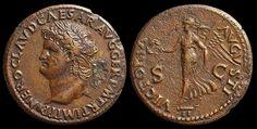 Impero Romano - Nerone (54-68 d.C.), Dupondio, c. 65 d.C.,