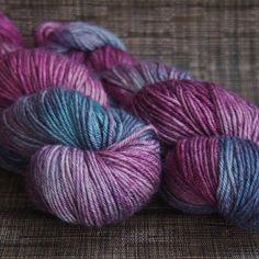 Hand Dyed Yarn DK weight yarn British BFL 4oz by TheColorWheelYarn, $22.00
