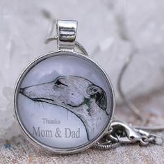 Thankful Greyhound Whippet Necklace