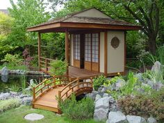 Anese Teahouse And Koi Pond Bwood Asian Garage Shed South East
