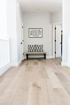 montpelier oak wood flooring, sold at Floor & Decor - nice blend of grey and browns PERFECT FOR KITCHEN! wood floors grey walls Our House Remodel: Flooring Reveal Home Renovation, Home Remodeling, Basement Renovations, Basement Ideas, Floor Decor, My New Room, Design Case, New Homes, House Ideas