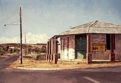 Three Trees Tea, Corner Store, Oudtshoorn by Capelight, via Flickr City Landscape, Landscape Paintings, Pictures To Paint, Art Pictures, Interesting Photos, Cool Photos, Landscape Photography, Art Photography, Train Stations