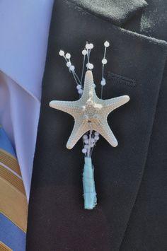 Aqua Starfish Boutonniere