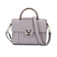 Women V Letters Saffiano Handbags (Color: Gray)   To save upto 20% visit our website  uniquefashionusa.com
