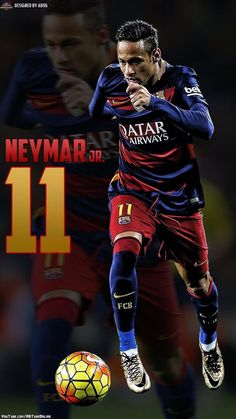 Wallpaper: Neymar [via Fc Barcelona Neymar, Barcelona Football, Neymar Jr Wallpapers, Paris Saint Germain Fc, Neymar Pic, Neymar Football, National Football Teams, Best Player, Lionel Messi