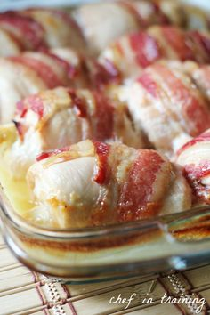 Chicken Cordon Bleu Recipe ~ Says: what is not to love about the combination of cream cheese, chicken and bacon all wrapped up together?!  The flavors are DELICIOUS! It is so easy to make and everyone loves it!