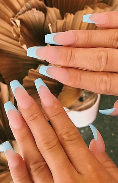 Acrylic Nails Coffin Pink, French Tip Acrylic Nails, Simple Acrylic Nails, Acrylic Nail Designs Coffin, Pink French Manicure, Acrylic Nails Designs Short, Coffin Nails, Long French Tip Nails, Colourful Acrylic Nails