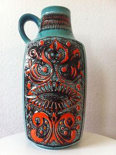 Bay Keramik 40cm Vase Fat Lava 70s 70er pop roth otto ceramics wgp | eBay