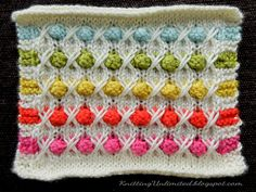 Amazing colorful stitch. Bobbles and Brambles