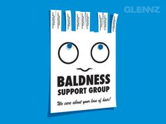 This tear-off ad makes perfect sense for a company that specializes in treating men and women who suffer from baldness.