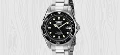 Invicta Pro Driver Collection Silver Tone Watches For Men