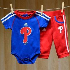 Phillies Baby SS Creeper Pant Set