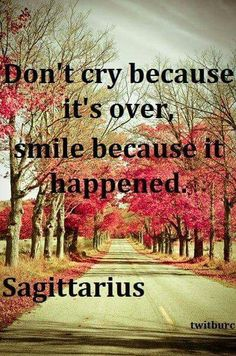 DON'T CRY BECAUSE IT'S OVER.....