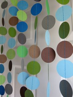 Paper Garland Baby Boy Shower  (could make this)