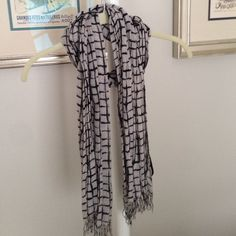 Deena & Ozzy for Urban Outfitters Scarf Grey and black checkered scarf from Urban Outfitters. Super soft and lightweight!! 100% viscose. Perfect summer scarf! Excellent condition! Urban Outfitters Accessories Scarves & Wraps
