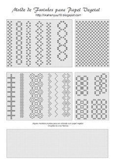 Lika Hanyuu - Artesanato -Papel Vegetal XD: [Molde Pattern] Papel Vegetal - Furos