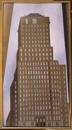 Shelton Hotel New York No. 1, 1926 by Georgia O'Keeffe. Precisionism. cityscape